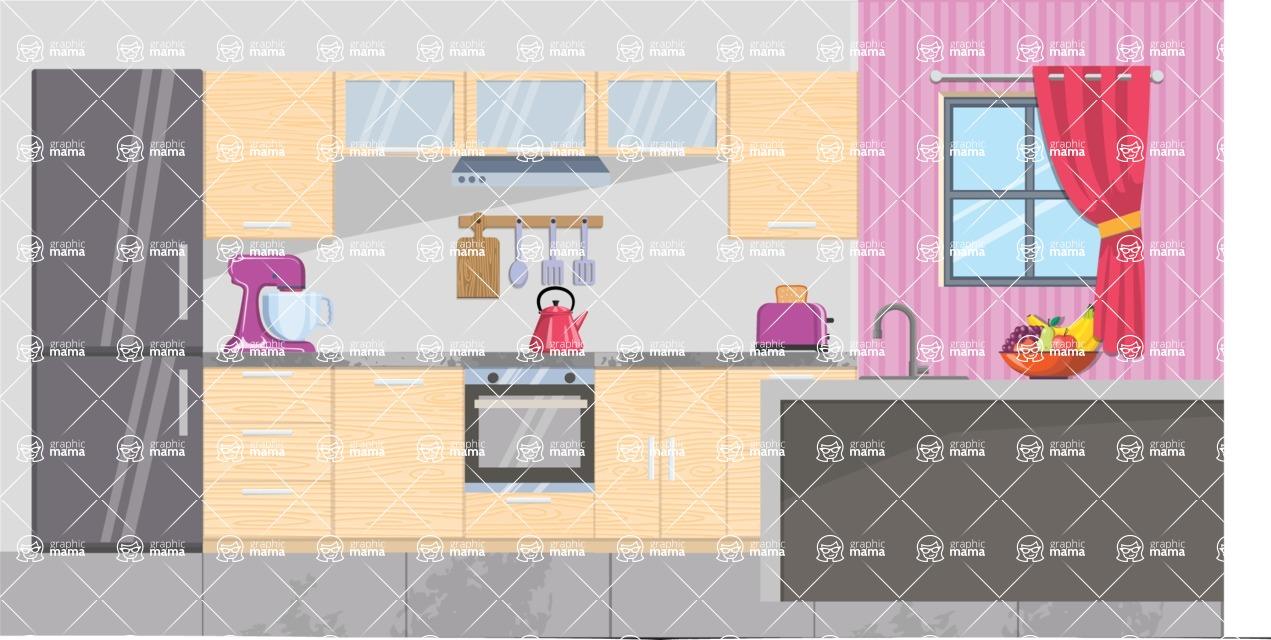Kitchen Vector Graphic Maker - Kitchen 22