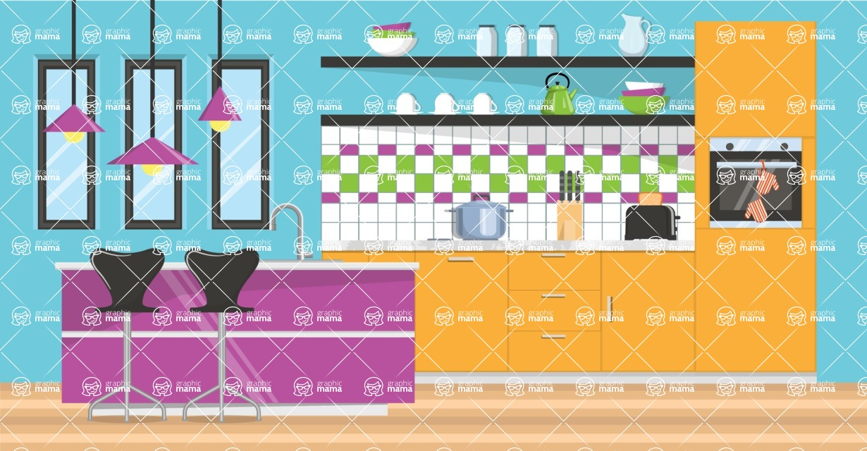 Kitchen Vector Graphic Maker - Kitchen 24