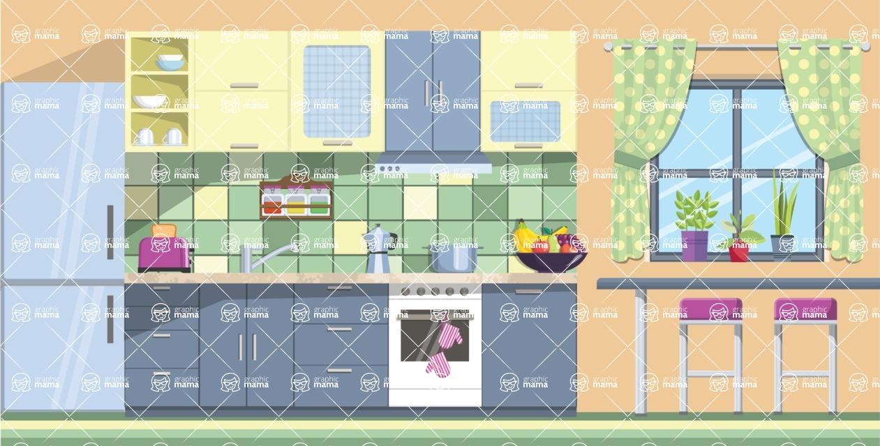 Kitchen Vector Graphic Maker - Kitchen 4