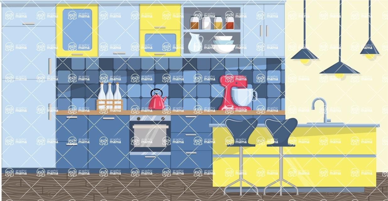 Kitchen Vector Graphic Maker - Kitchen 8