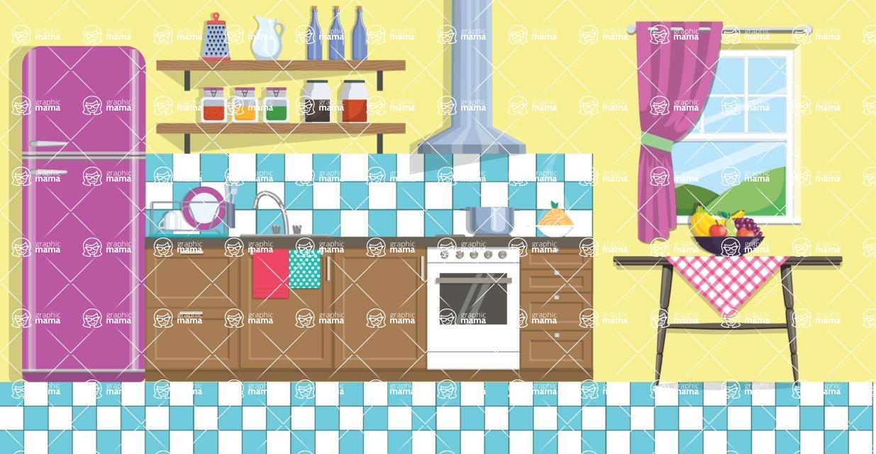 Kitchen Vector Graphic Maker - Kitchen 9