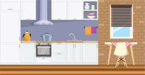 Kitchen Vector Graphic Maker - Kitchen 21