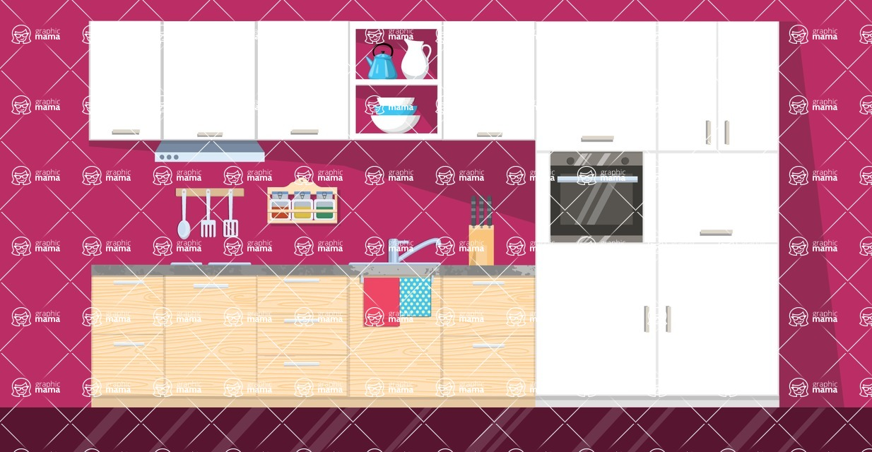 Kitchen Vector Graphic Maker - Kitchen 15