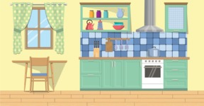 Kitchen Vector Graphic Maker - Kitchen 13
