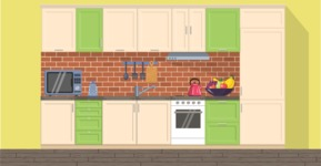 Kitchen Vector Graphic Maker - Kitchen 23