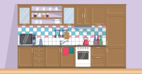 Kitchen Vector Graphic Maker - Kitchen 6