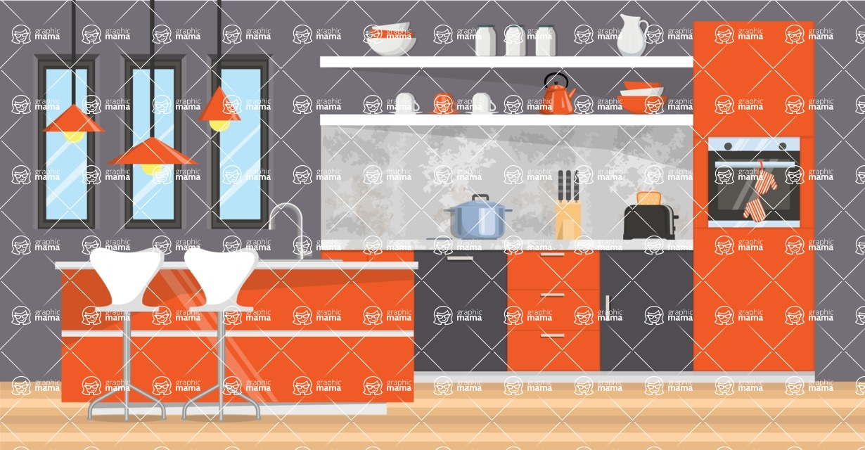Kitchen Vector Graphic Maker - Kitchen 17