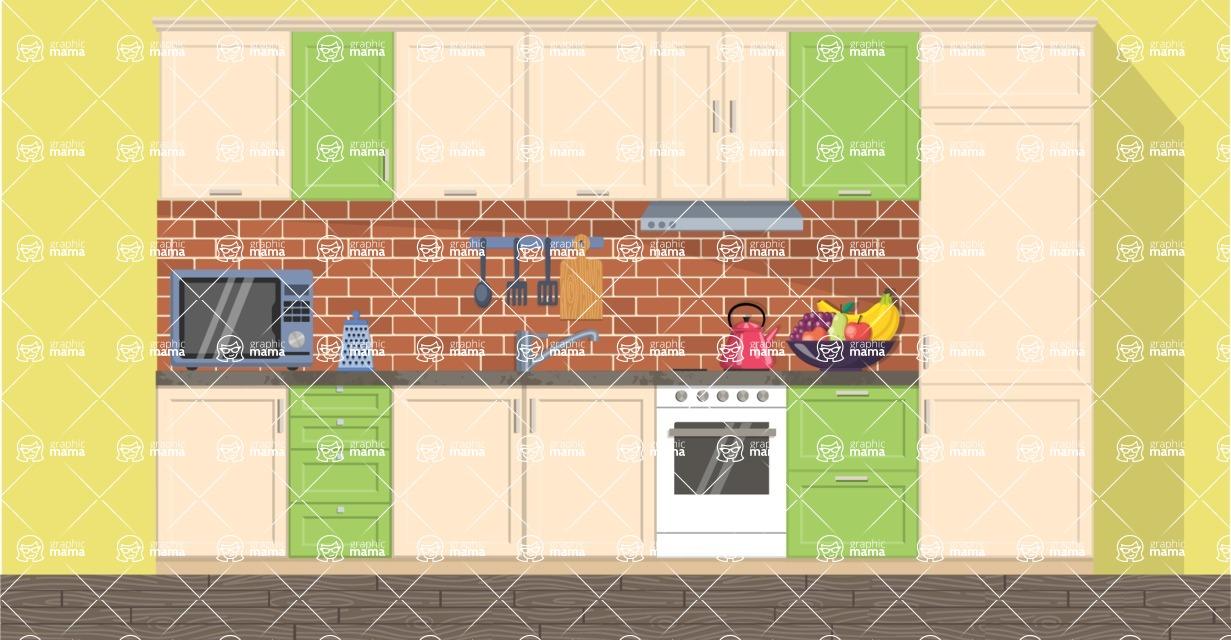 Kitchen Vector Graphic Maker - Kitchen 23