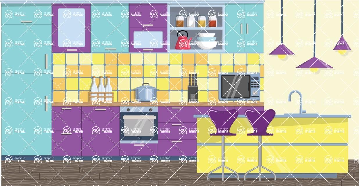 Kitchen Vector Graphic Maker - Kitchen 25