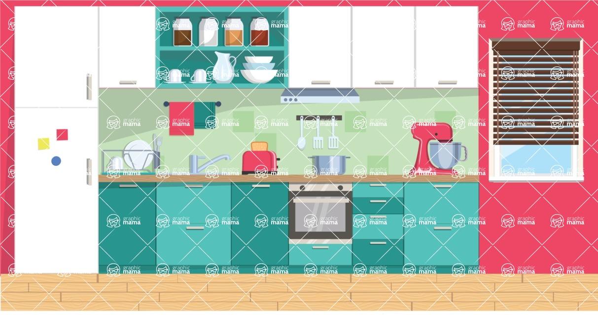 Kitchen Vector Graphic Maker - Kitchen 5