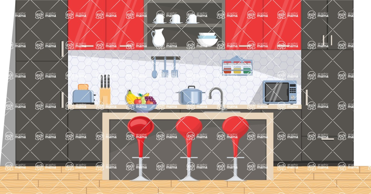 Kitchen Vector Graphic Maker - Kitchen 7