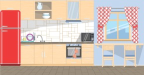 Kitchen Vector Graphic Maker - Kitchen 14