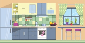 Kitchen Vector Graphic Maker - Kitchen 4