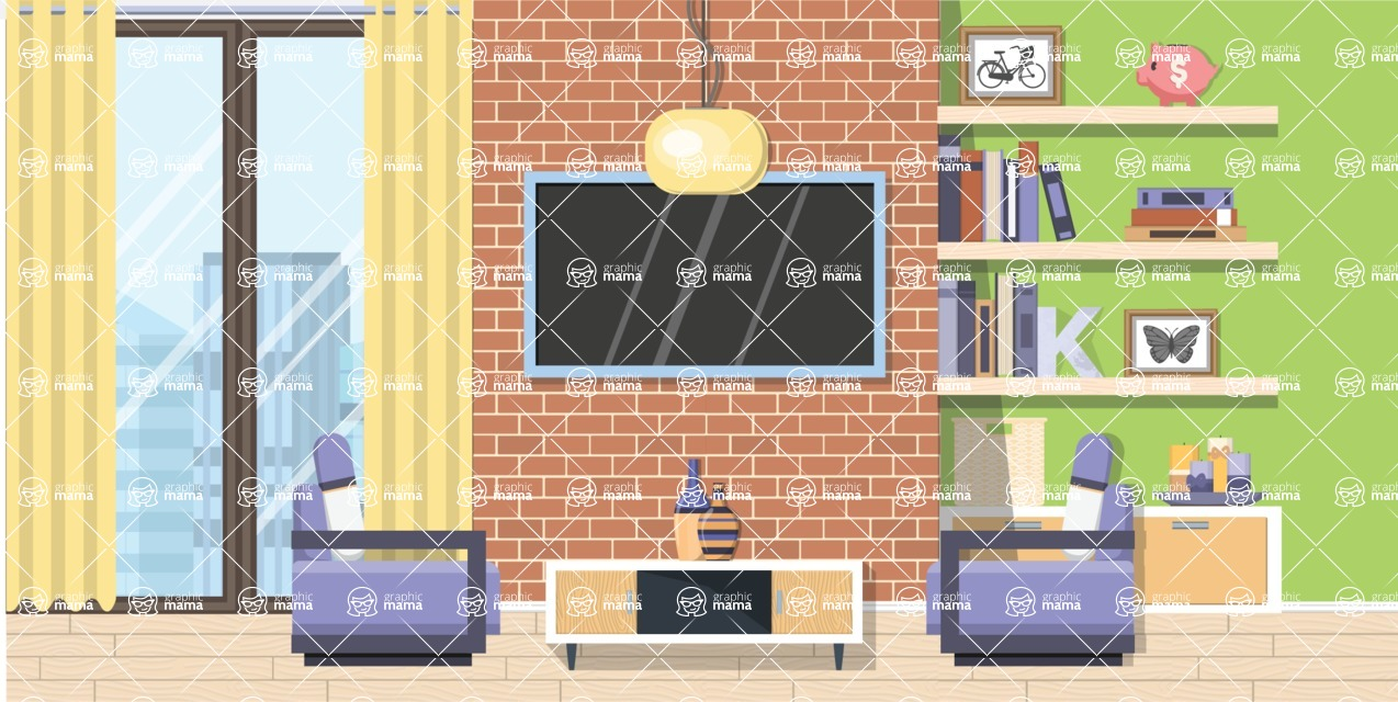 Living Room Vector Graphic Maker - Living Room 12