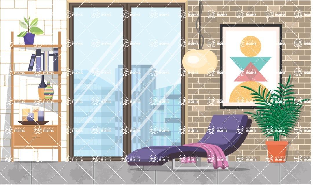 Living Room Vector Graphic Maker - Living Room 13
