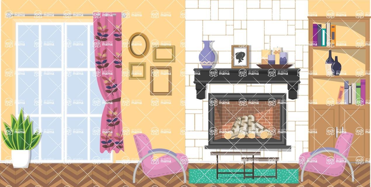 Living Room Vector Graphic Maker - Living Room 17