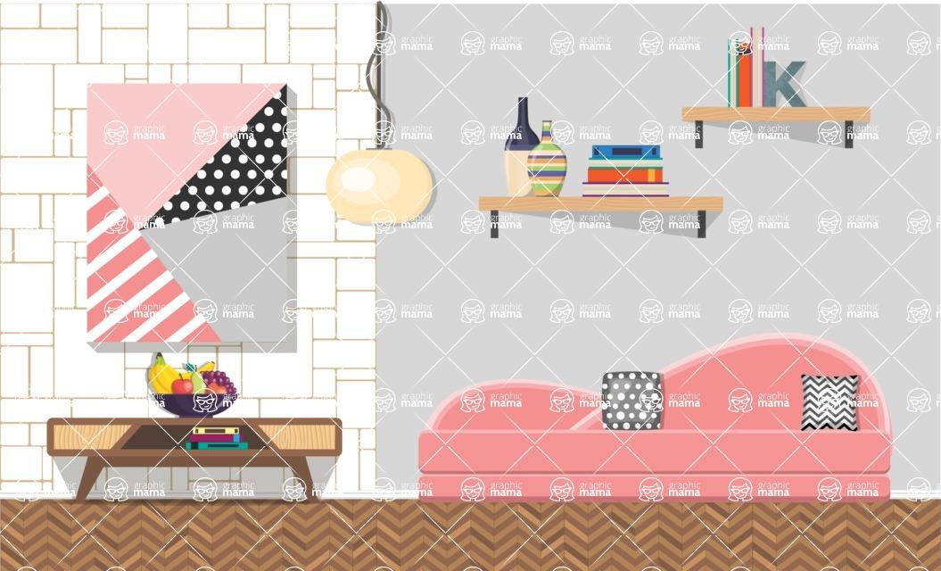 Living Room Vector Graphic Maker - Living Room 18