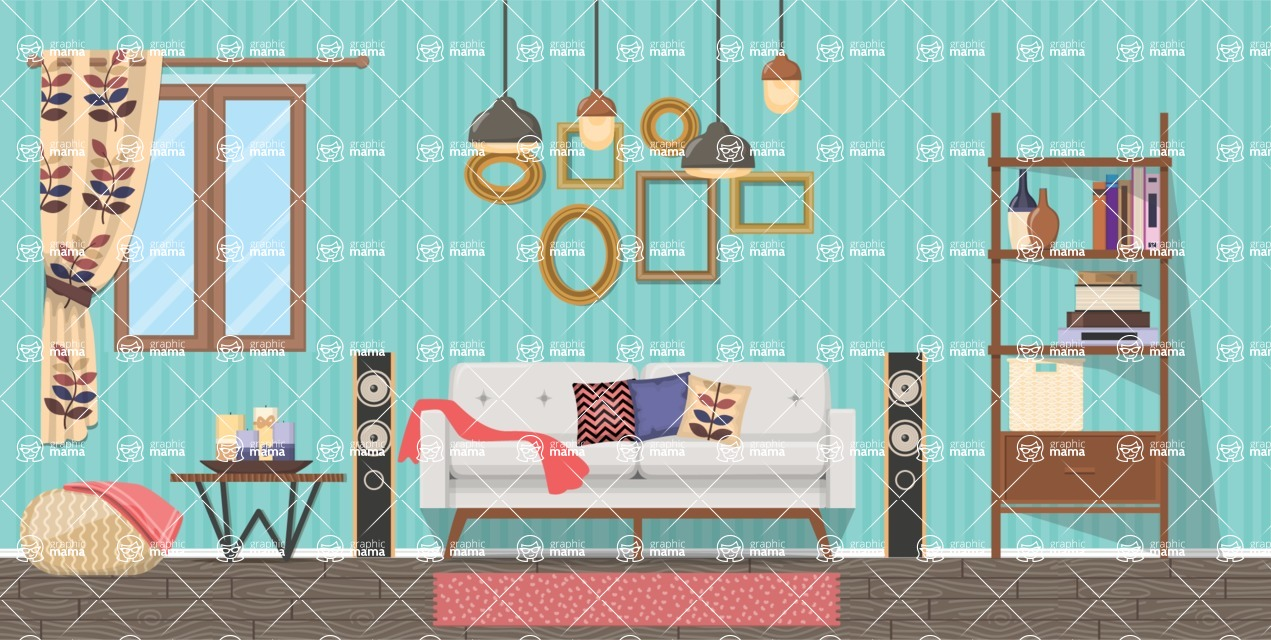 Living Room Vector Graphic Maker - Living Room 2