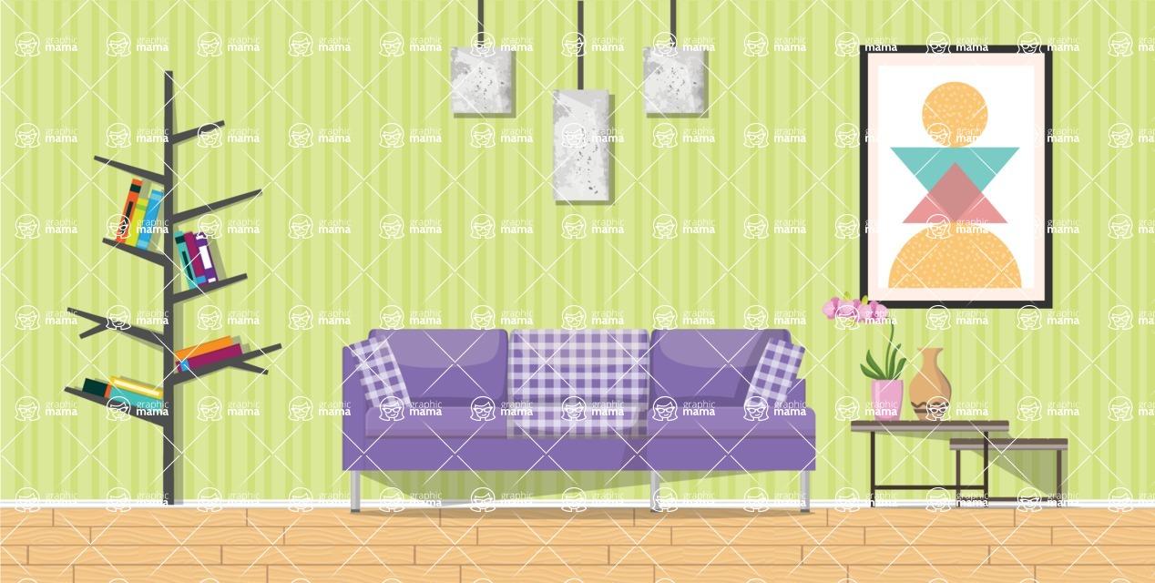 Living Room Vector Graphic Maker - Living Room 20