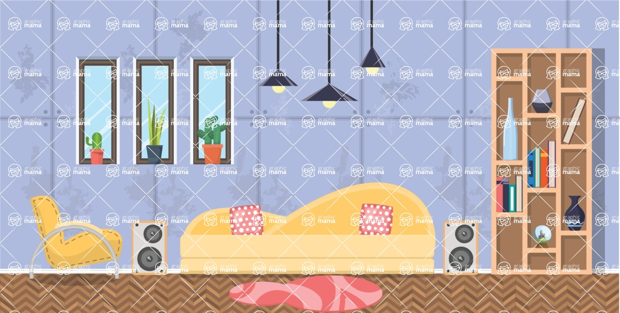 Living Room Vector Graphic Maker - Living Room 22