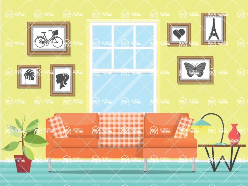 Living Room Vector Graphic Maker - Living Room 24