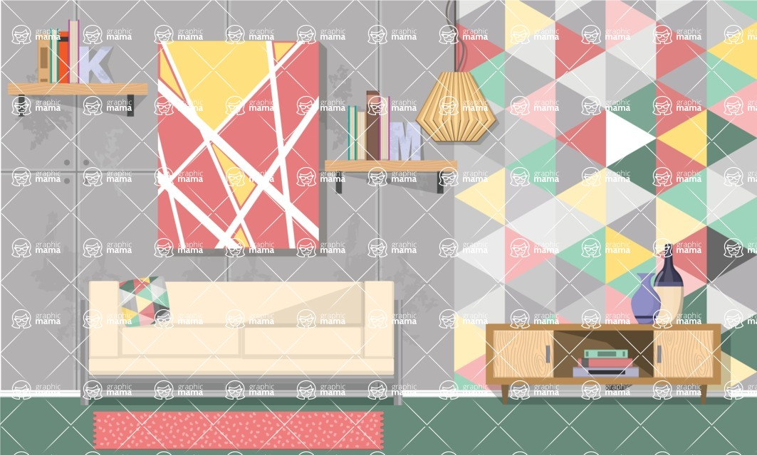 Living Room Vector Graphic Maker - Living Room 3