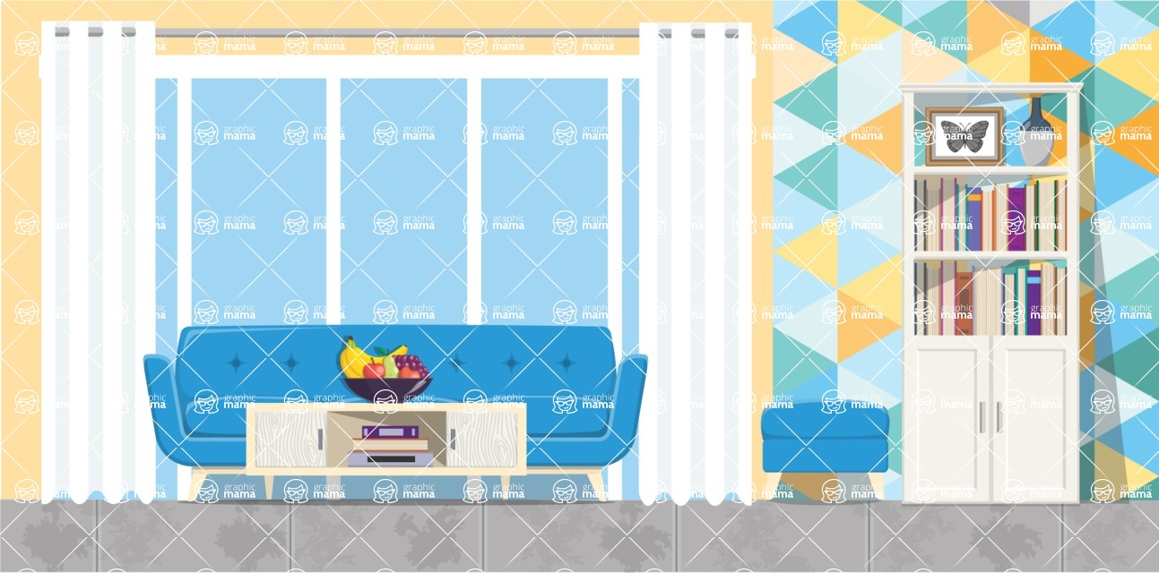 Living Room Vector Graphic Maker - Living Room 6