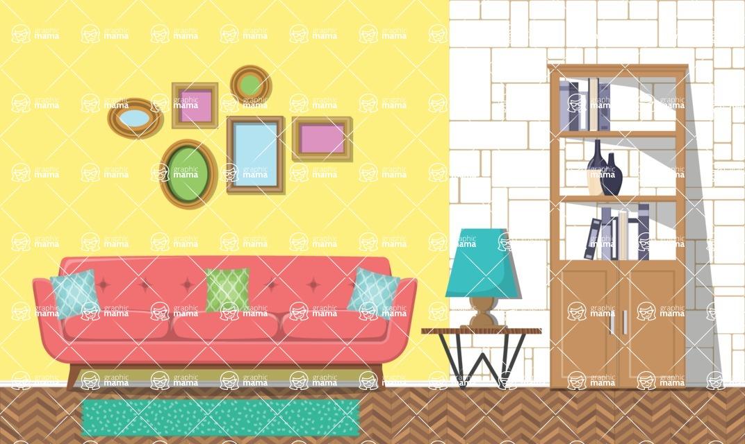 Living Room Vector Graphic Maker - Living Room 8