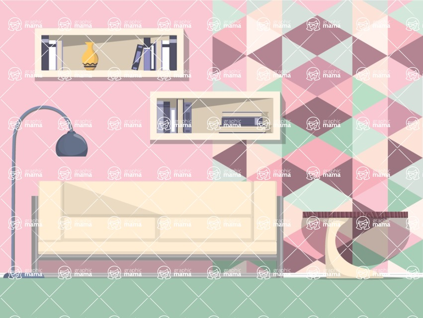 Living Room Vector Graphic Maker - Living Room 9