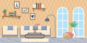 Living Room Vector Graphic Maker - Living Room 1
