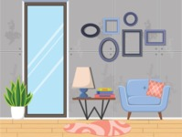 Living Room Vector Graphic Maker - Living Room 14