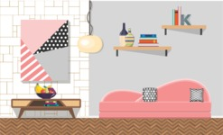 Living Room Vector Graphic Maker - Living Room 18