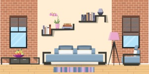 Living Room Vector Graphic Maker - Living Room 7