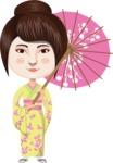 Japanese Girl with Umbrella