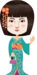 Stylish Japanese Woman in Kimono