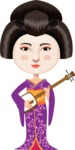 Japanese Woman with Musical Instrument