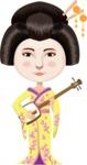Japanese Girl Playing Music