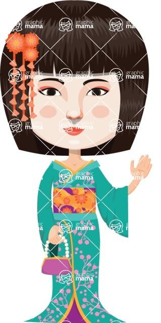 Japan - Traditional and Modern Looks - Stylish Japanese Woman in Kimono