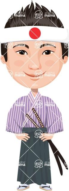 Japan - Traditional and Modern Looks - Japanese Samurai Boy
