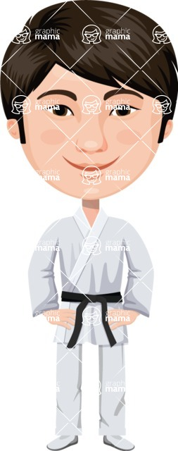Japan - Traditional and Modern Looks - Japanese Martial Arts Man