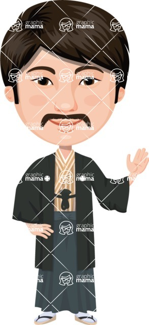 Japan - Traditional and Modern Looks - Japanese Man with Moustache