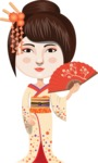 Japan - Traditional and Modern Looks - Japanese Girl with Red Fan