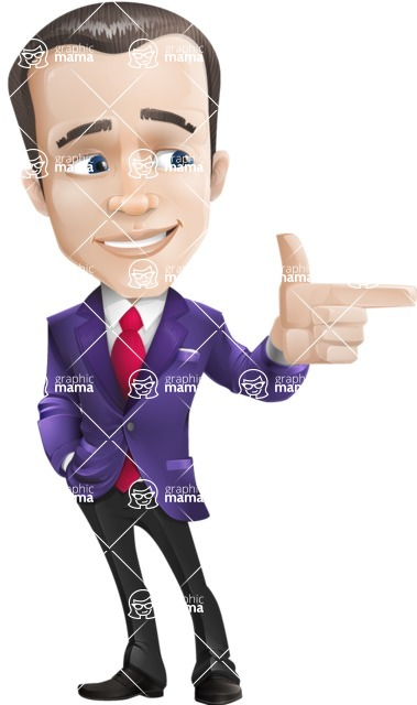 business vector cartoon character man graphic design ultra violet color 2018 - Point 2