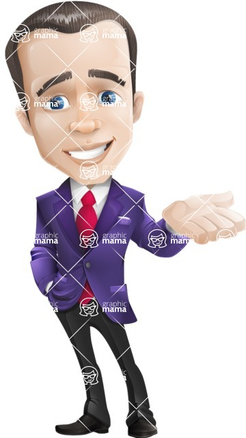business vector cartoon character man graphic design ultra violet color 2018 - Sorry