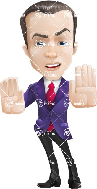 business vector cartoon character man graphic design ultra violet color 2018 - Stop 2