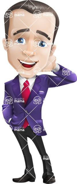 business vector cartoon character man graphic design ultra violet color 2018 - Oops
