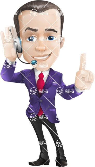 business vector cartoon character man graphic design ultra violet color 2018 - Support2