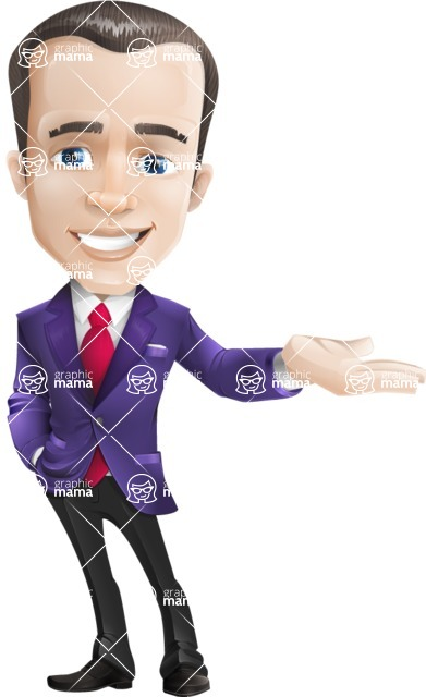 business vector cartoon character man graphic design ultra violet color 2018 - Showcase