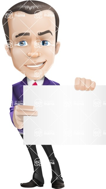 business vector cartoon character man graphic design ultra violet color 2018 - Sign3