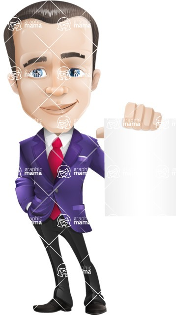 business vector cartoon character man graphic design ultra violet color 2018 - Sign4